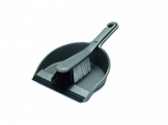 Addis Soft Dustpan & Brush Set - Metallic