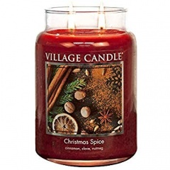 Large Glass Candle + Fruits - Xmas Spices