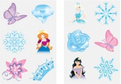 Tattoos Mini 4cm Ice Princess 6ps - Card 2