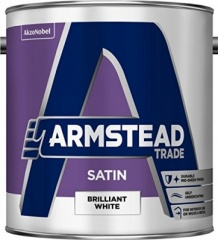 Armstead Trade Satin Brilliant White 2.5Ltr