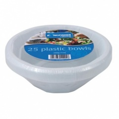 Kingfisher 25 Pack of White Plastic Bowls [KC25SB]