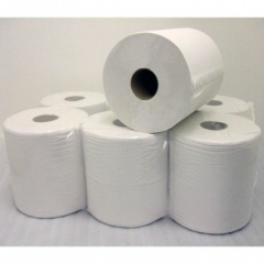 6 Centrefeed Towel Roll 2 ply - WHITE