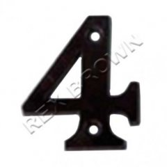 Screw On - Black Plastic 50mm Number 1