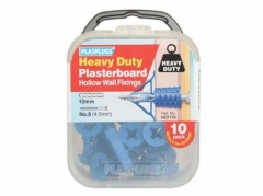 Plasplug 10pc  Heavy Duty Plasterboard Plugs (HCF110)