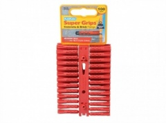 Plasplugs 100 Red Supergrip Plugs(SRP502)