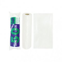 SUPPLIER DISCONTINUED   TUFFY 12X23X28 SWING BIN LINERS VALUE 50S