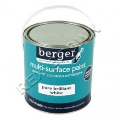 Berger M/P Kitchen & Bathroom Paint PBW 2.5Ltr