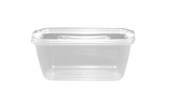 1Ltr Rectangular Ultra Container With Clipped Lid