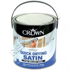 Crown Quick Drying Gloss Brilliant White 2.5ltr