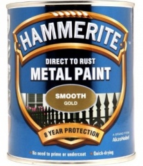 Hammerite Metal Paint Smooth Gold 750ml
