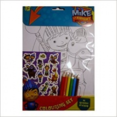 Mike The Knight Colouring Set
