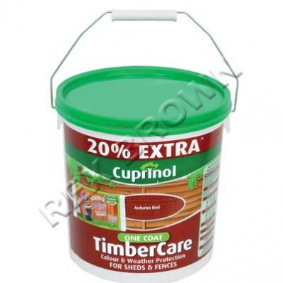 cuprinol cx one coat timbercare autumn red 6ltr. Black Bedroom Furniture Sets. Home Design Ideas