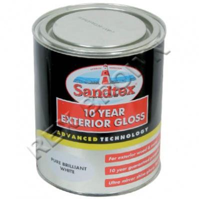 sandtex 10 year exterior gloss pbw 750ml wholesalers of hardware. Black Bedroom Furniture Sets. Home Design Ideas