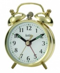 *****Acctim Mini Double Bell Brass Keywound Alarm Clock (25/457BR)