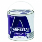 Armstead Trade Quick Dry Satin White 2.5Ltr