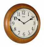 'Maine' 205mm Wall Clock In Cherry