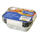 Kingfisher 12pk Small Foil Food Containes with Lid [KCF17]
