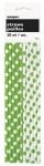 10 LME GREEN DOTS PAPER STRAWS