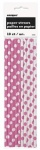 10 HOT PINK DOTS PAPER STRAWS