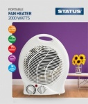 Status Fan Heater Upright 2KW 2 Heat Settings