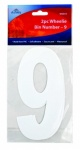 Ashley Housewares 2pc Wheelie Bin Number - 9