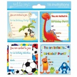 16 Invitation Cards Boy 4 designs