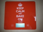 **** Hanson Keep Calm & Bake On Electronic Kitchen Scale