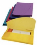 **Discontinued** Rapesco Polypropylene Wallet - Bright Solid Colours Asstd. Foolscap Pk5