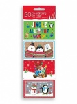 20 Novelty Christmas Self Adhesive Tags