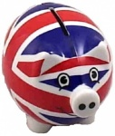 Small Union Jack Piggy Bank