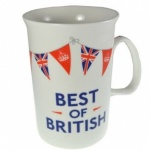 **Discontinued** Best of British Fluted Bone China Boxed Mug