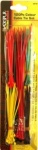 Blackspur 120 PC ASSORTED COLOUR CABLE TIE SET
