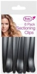 Pretty Hair Sectioning Clips 6pk Black