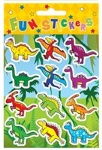 Stickers Dinosaur 12pc Card 10 x 11.5cm