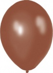 11'' High Quality Latex Metallic Balloons Pk50 - Treacle Brown