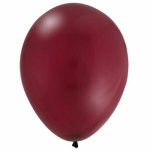 11'' High Quality Latex Crystal Balloons Pk50 - Celebration Burgundy