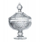 Diamond Footed Bowl with Cover