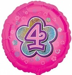 18'' Standard Holographic Foil Balloon : Pink Star 4