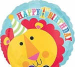 1st Happy Birthday - Standard Foil Balloon - Fisher
