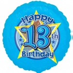 18'' Standard Holographic Foil Balloon : Blue Star 13