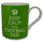 **Discontinued** Keep Calm Football Fan Mug Green