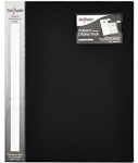 A4 Duo Tone Indexed Display Book 40 Pocket Black / Silver