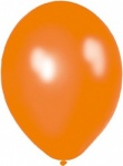 11'' High Quality Latex Metallic Balloons Pk50 - Juicy Orange