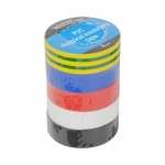 10 Mtr - mixed colours electrical tape - 5 pk