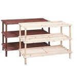 Shoe Rack 3t Fir Nat/brwn 2ast