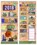 Large Family Organiser Calendar with 5 column