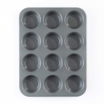 Teflon 12 Cup Muffin Pan 0.8MM - KB1003