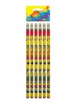 Pencil W/Eraser Full Size 6pc Smile