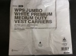 Super Lion White Jumbo White Premium Medium Duty Vest Carrier Bags Pk100 300x470x570mm (WP9)