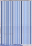 Peva Shower Curtain Linear Stripe Blue